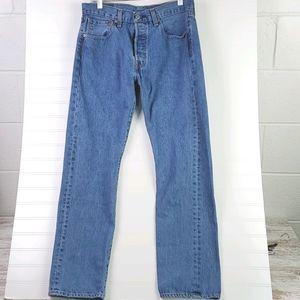 Levi's 501 100% Cotton Button Fly Jeans 31/30